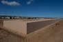 L'ancien camp de Rivesaltes et le mémorial créé par l'architecte Rudy Ricciotti le 29 septembre 2015.