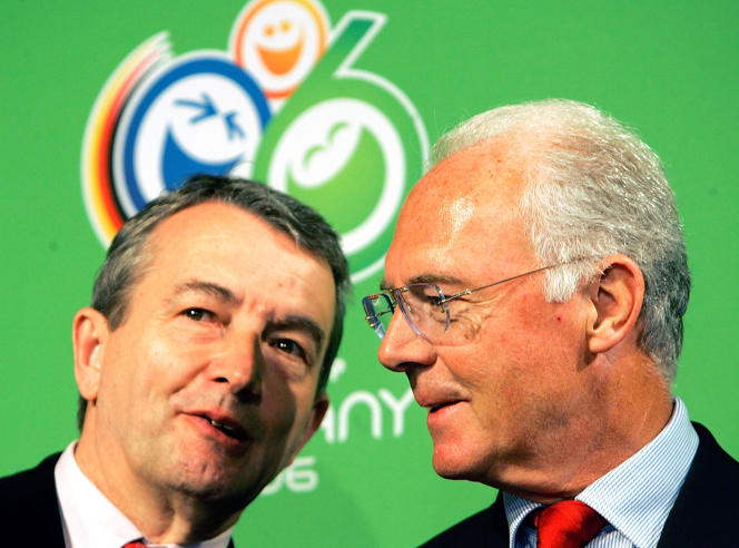 Franz Beckenbauer, à droite, le 6 mars 2006.