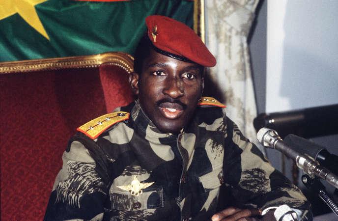 Le capitaine Thomas Sankara, président du Burkina Faso, le 7 février 1986.