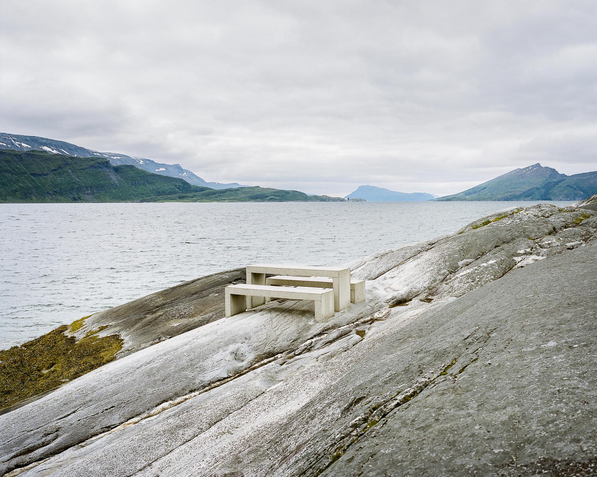 L'aire de repos d'Hellåga, à Rana.