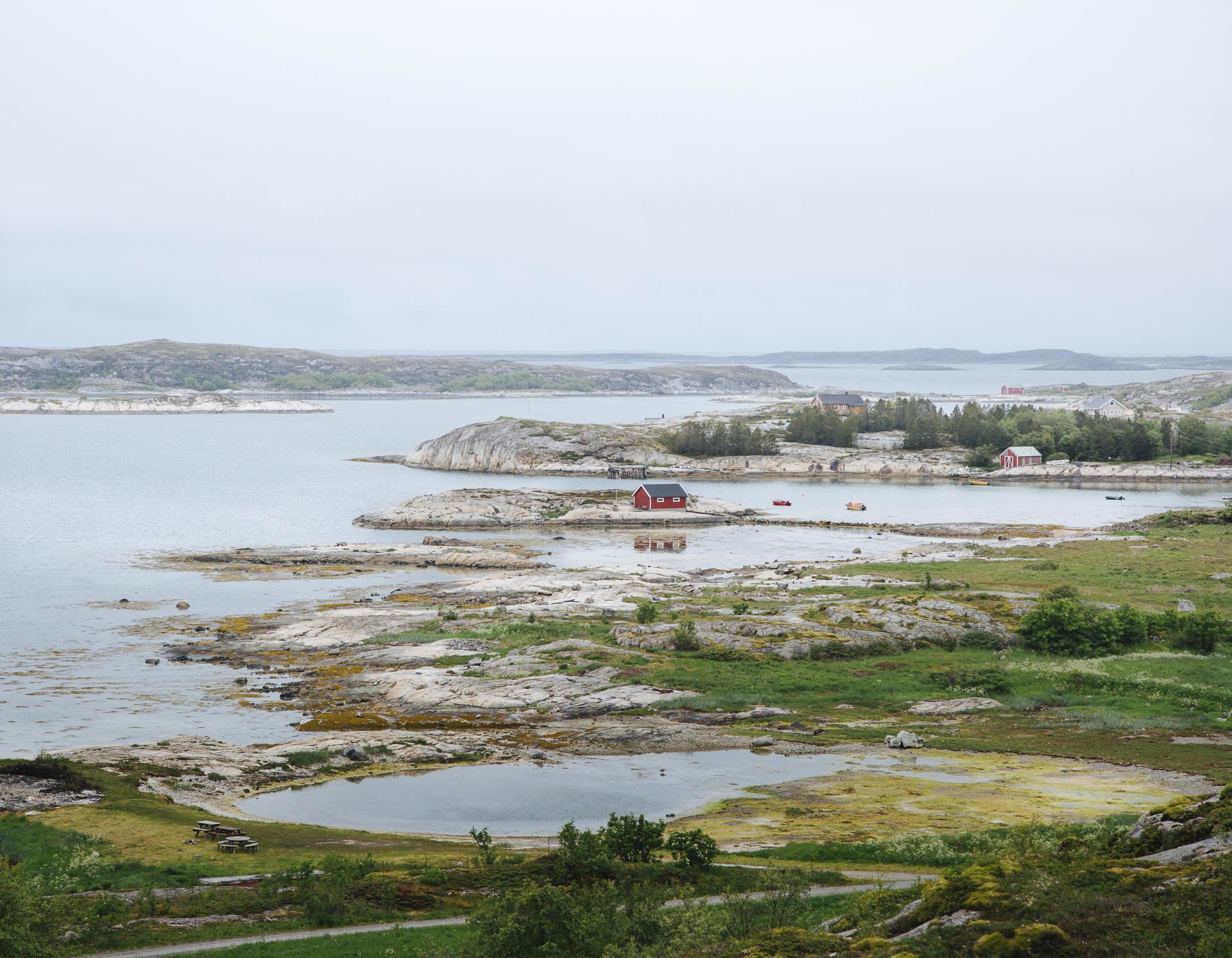 La marée basse à Torget.