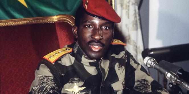 Le président du Burkina Faso Thomas Sankara, le 7 février 1986.