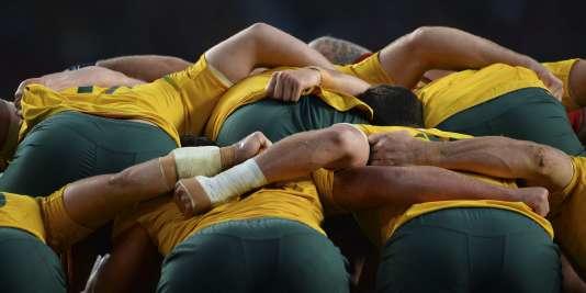 Pendant le match entre l'Australie et le Pays de Galles, le 10 octobre.
