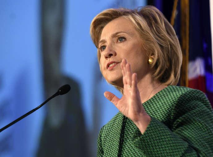 Hillary Clinton le 17 octobre à Hoover, Alaska.