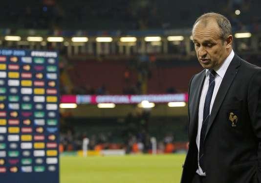 Philippe Saint-André, après la défaite de la France contre la Nouvelle-Zélande, samedi à Cardiff.
