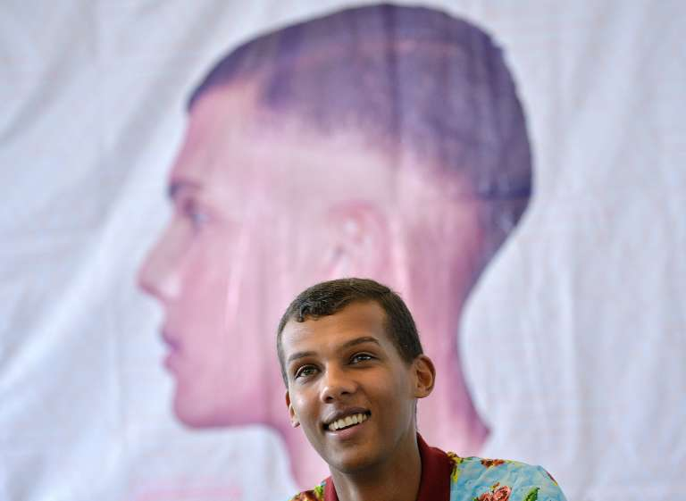 Le chanteur belge Stomae à Kigali, au Rwanda, le 17 octobre.