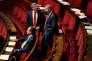 Nicolas Sansu (PC) et les frondeurs Jean-Marc Germain et Laurent Baumel, à l'Assemblée, le 16octobre.