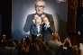 Martin Scorsese et Thierry Frémaux, lors de la remise du prix Lumière, à Lyon, le 16 octobre.