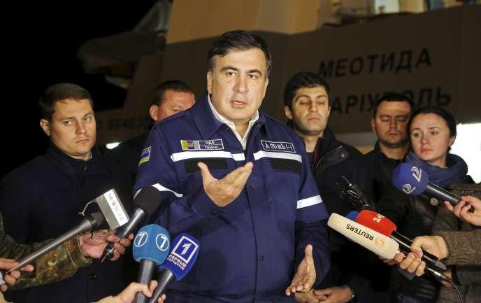 L'ancien président géorgien devenu gouverneur d'Odessa (Ukraine), Mikheïl Saakachvili, à Odessa, le 17 octobre.