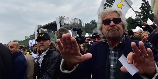 Le fondateur du Mouvement 5 étoiles italien, Beppe Grillo, en octobre.