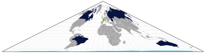 Le monde, vu avec la projection d'Edouard Collignon.