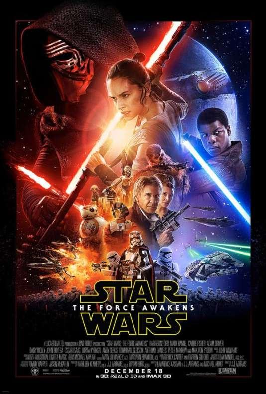 L'affiche du septième épisode de « Star Wars : Le retour de la force ».