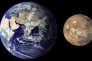 Comparaison entre la Terre et la planète Mars (à droite).