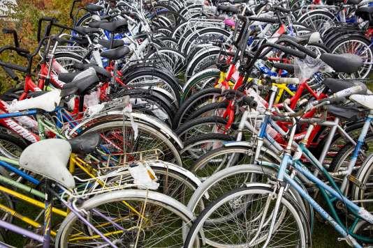 Des bicyclettes abandonnées au poste frontière norvégien de Storskog en octobre par des Syriens désireux de regagner l'Europe.