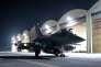 Un avion Rafale de l'Armée de l'Air française s'apprête à décoller pour aller mener une frappe aérienne dans la zone de Raqqa en Syrie le 8 octobre 2015.