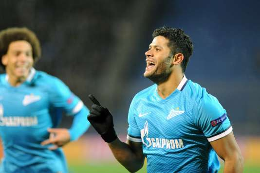 Hulk a redonné l'avantage au Zénith Saint-Pétersbourg en début de seconde période, mardi 20 octobre. Le Brésilien est impliqué dans six des huit buts de sa formation en C1 cette saison.