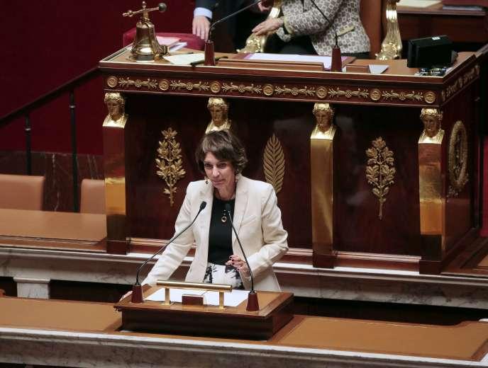 La ministre de la santé Marisol Touraine présente le projet de loi de financement de la Sécurité sociale (PLFFS) devant l'Assemblée nationale, le 20 octobre 2015.