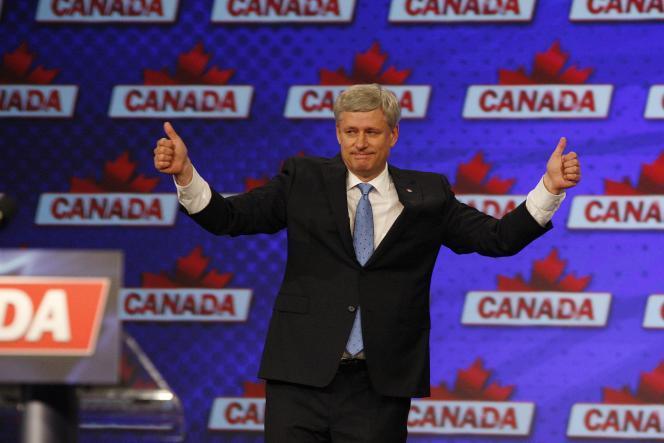 Stephen Harper reconnaît sa défaite après les législatives du 19 octobre.