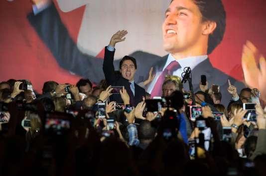 Justin Trudeau à Montreal le 20 octobre 2015.