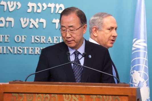 Ban Ki-moon, le secrétaire général de l'Organisation des Nations unies, est arrivée mardi en Israël.