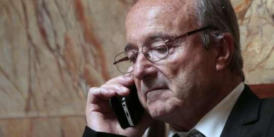 Jacques Bompard, maire d'Orange (Vaucluse), le 20 octobre à l'Assemblée nationale.