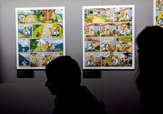 A l'ouverture de la quarantième édition du festival de BD d'Angoulême, le 31 janvier 2013.