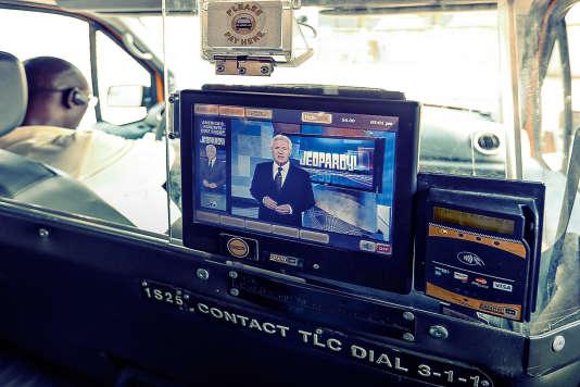 Dans un taxi de New-York en octobre 2013.