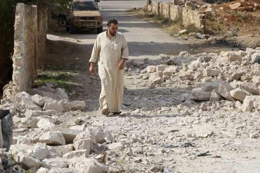 Les dégâts des frappes russes à Alep.