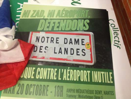 A Nantes (Loire-Atlantique), le 20 octobre 2015. Favorable au nouvel aéroport en 2002, le FN s'oppose désormais au projet de Notre-Dame-des-Landes.