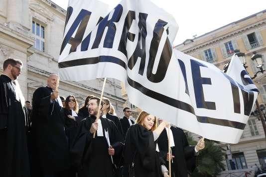 Grève des avocats du barreau de Nice, le 21 octobre.