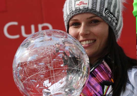 Anna Fenninger avait remporté le gros globe de cristal ces deux dernières années.