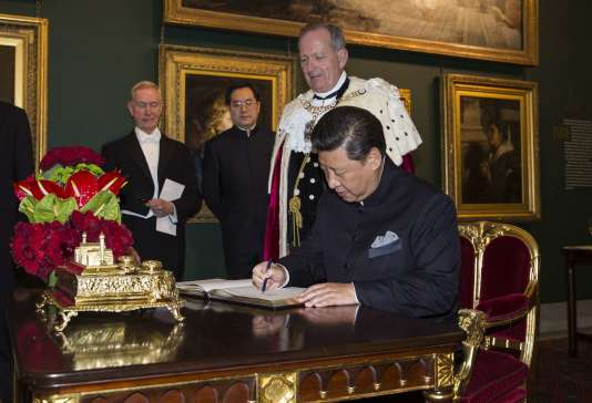 Le Président chinois Xi Jiniping et le lord-maire de la City, le 21 octobre