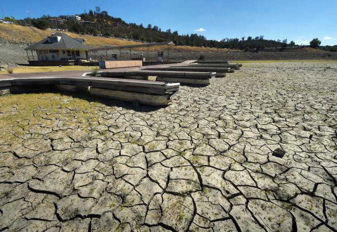 La sécheresse touche également la région de Sacramento, en Californie, comme le montre cette photo du 17 septembre 2015.