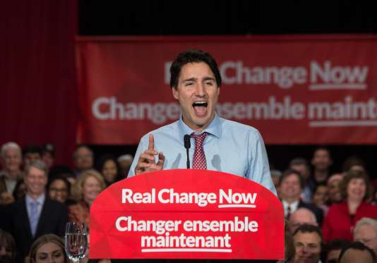 Justin Trudeau, le futur premier ministre canadien, le 20 octobre à Ottawa.