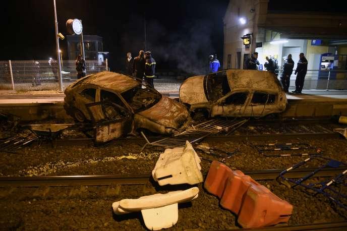 La gare de Moirans (Isère), mardi 20octobre au soir.