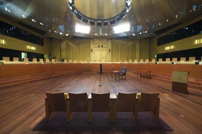 La Cour Européenne de Justice à Luxembourg (décembre 2014).