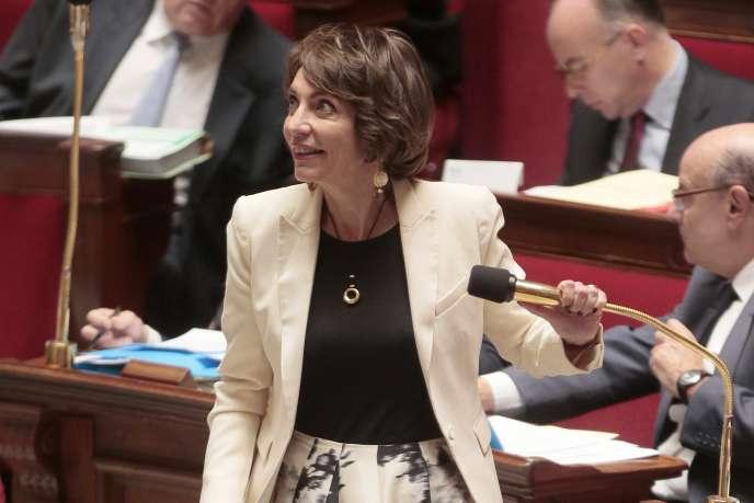 Marisol Touraine à l'Assemblée Nationale à Paris le 20 octobre 2015.