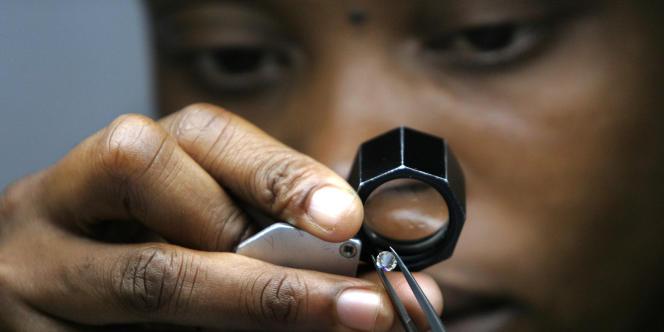 Un diamant de deux carats en provenance du Botswana.