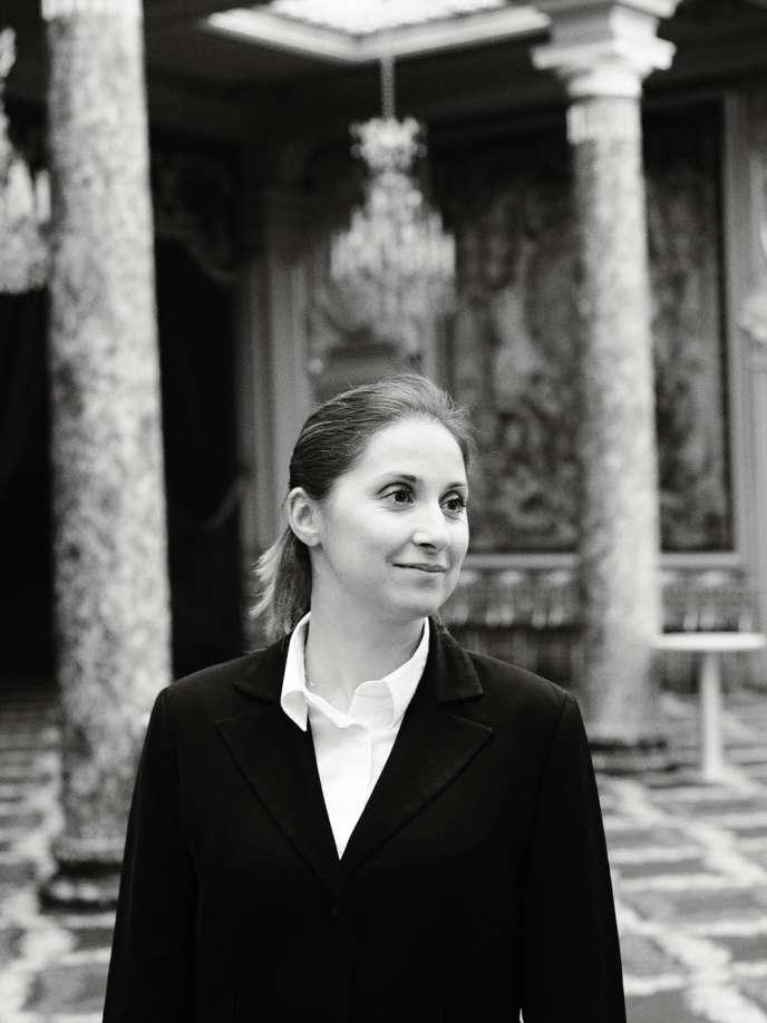 Virginie Routis, sommelière à l'Elysée depuis 2007, première femme à exercer cette fonction.