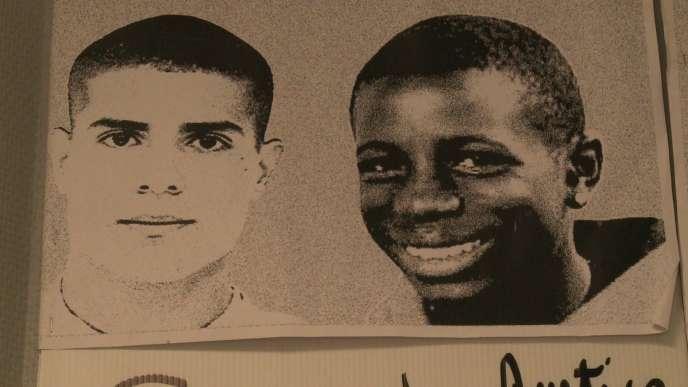 Zyed et Bouna, les deux adolescents dont la mort avait provoqué des émeutes en banlieues à loctobre 2005.