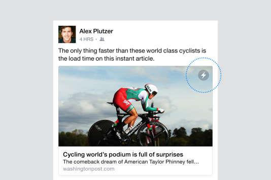 """Les """"Instant Articles"""" sont lisibles directement depuis Facebook, sans passer par le site des médias qui publient l'article."""