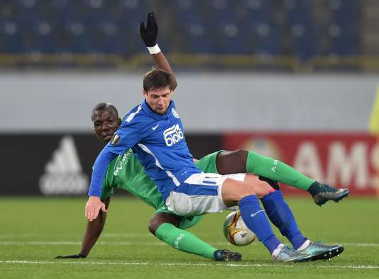 Florentin Pogba à la manœuvre face au FK Dnipro, à Dnipropetrovsk, jeudi 22octobre.