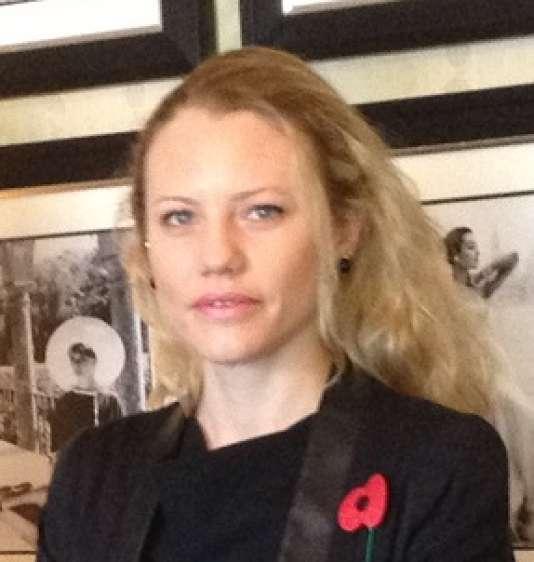 Sarah Harrison, n°2 de WikiLeaks et directrice de la Fondation Courage, a reçu le prix Willy Brandt.
