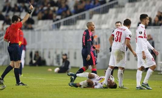 Le Girondin Wahbi Khazri, exclu peu après être entré en jeu, le 22 octobre à Bordeaux.
