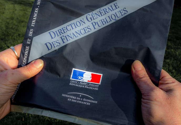Déclaration d'impôts envoyée aux contribuables par le ministère de l'Economie et des Finances.