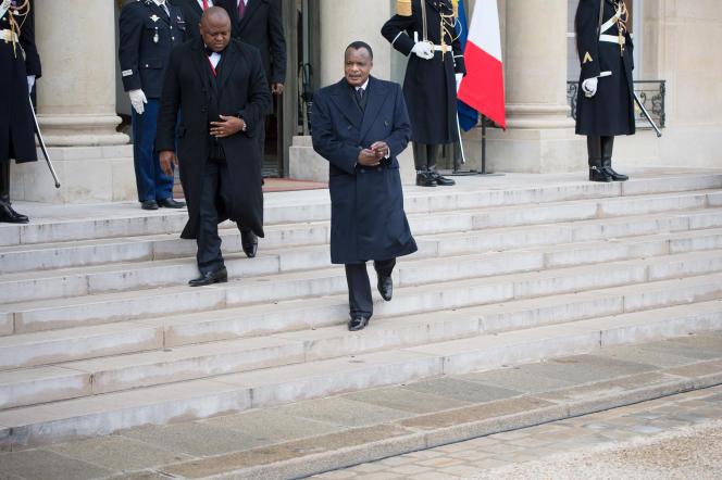 Denis Sassou-Nguesso, à l'Elysée, en avril 2013.