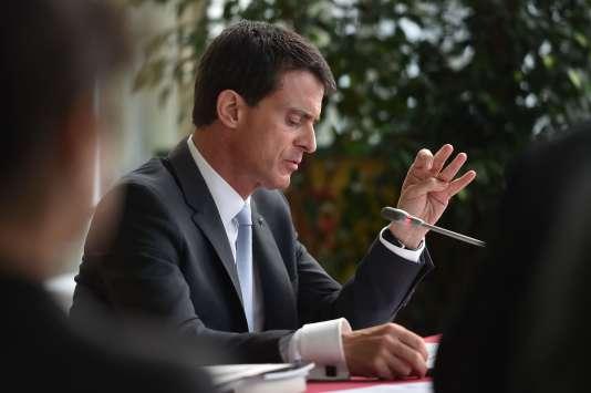 Manuel Valls à Boulogne-sur-Mer, le 22 octobre.