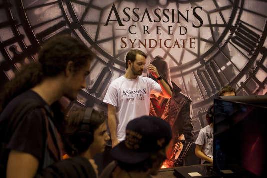 Lors de la présentation à Madrid, le 1er octobre, d'une première version d'Assassin's Creed Syndicate, le nouveau jeu d'Ubisoft.