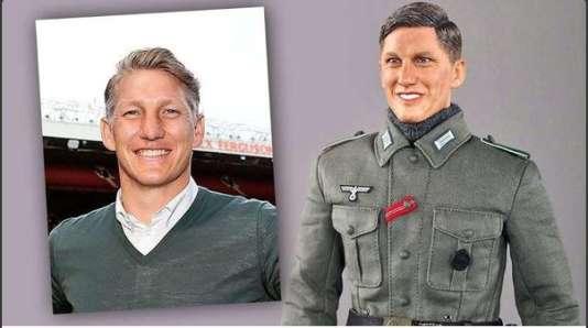 Bastian Schweinsteiger et la figurine du soldat de la Wehrmacht nommée… Bastian.