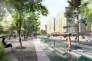 Projet pour l'esplanade à Villeurbanne par l'agence HYL.